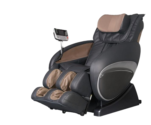 Picture of a Black Leather Massage Chair