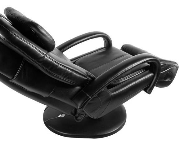 Photo d'un fauteuil de massage en cuir noir